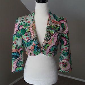 Marciano Multi-color Studded Bolero Jacket